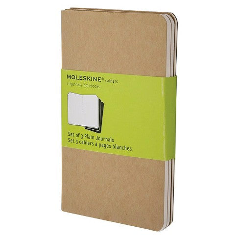 Moleskine Pocket Sized Cahiers - Set of 3 (plain or lined!) - Finest Imaginary