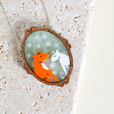 Fox Tales Family Portrait Necklace