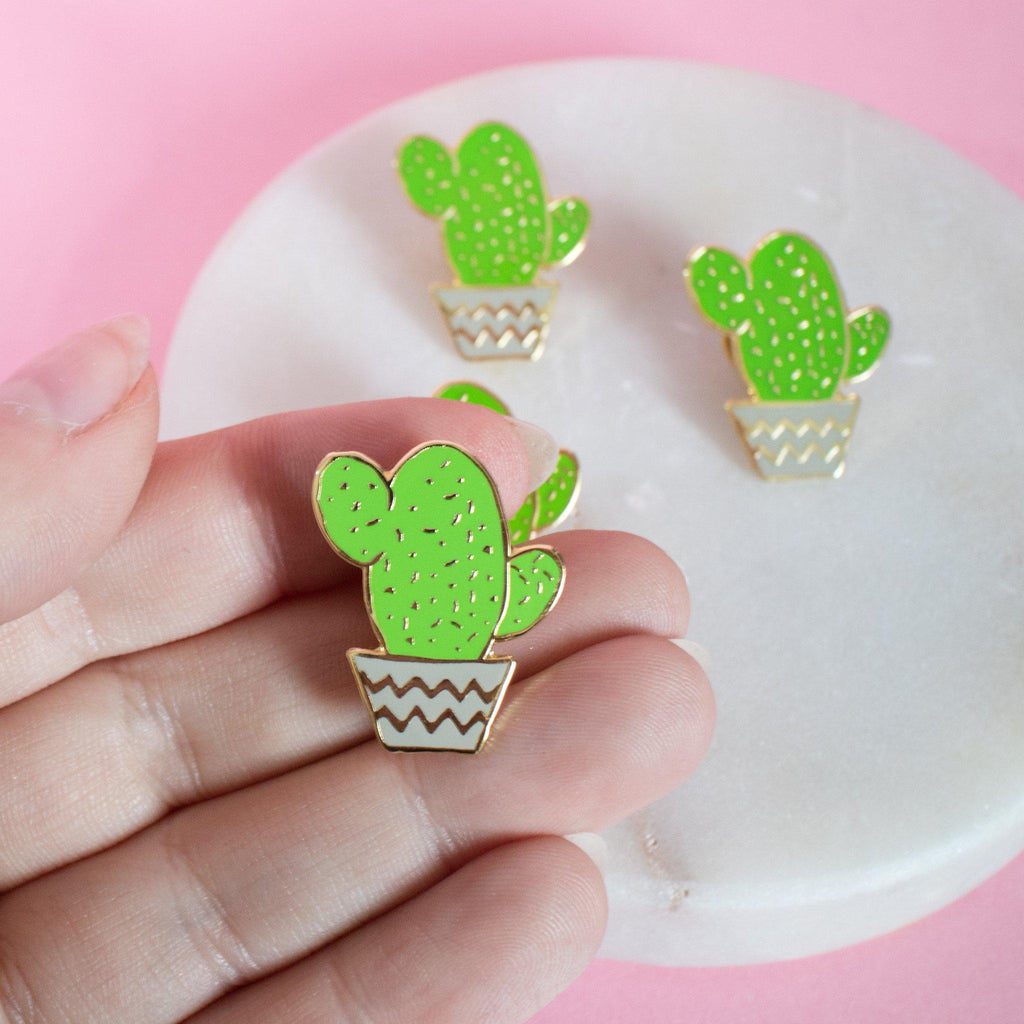 Cactus Pot Enamel Pin - Finest Imaginary