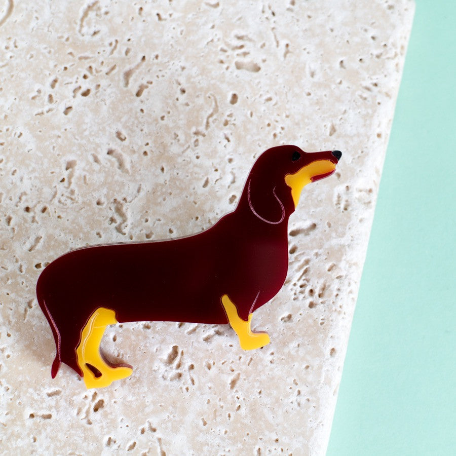 Dachshund Brooch - Finest Imaginary