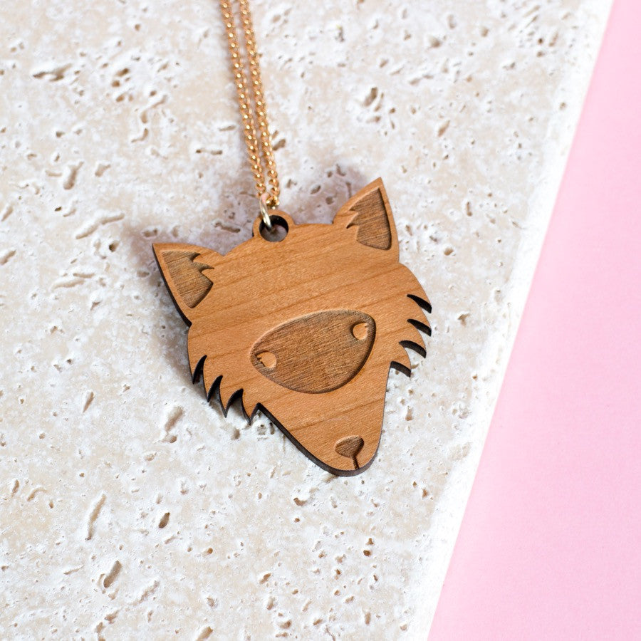 Wooden Fox Necklace - Finest Imaginary