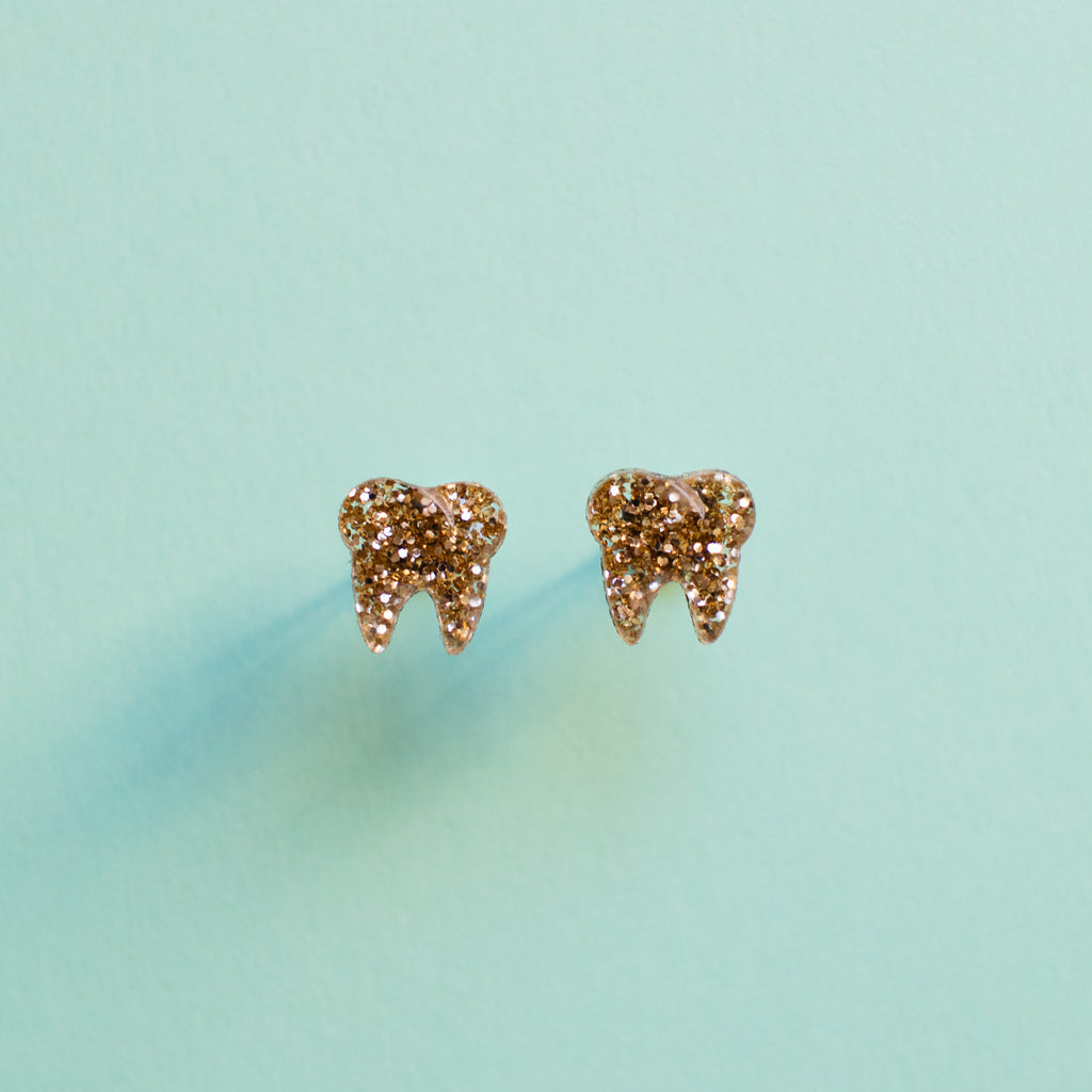 Gold Tooth Earrings - Finest Imaginary