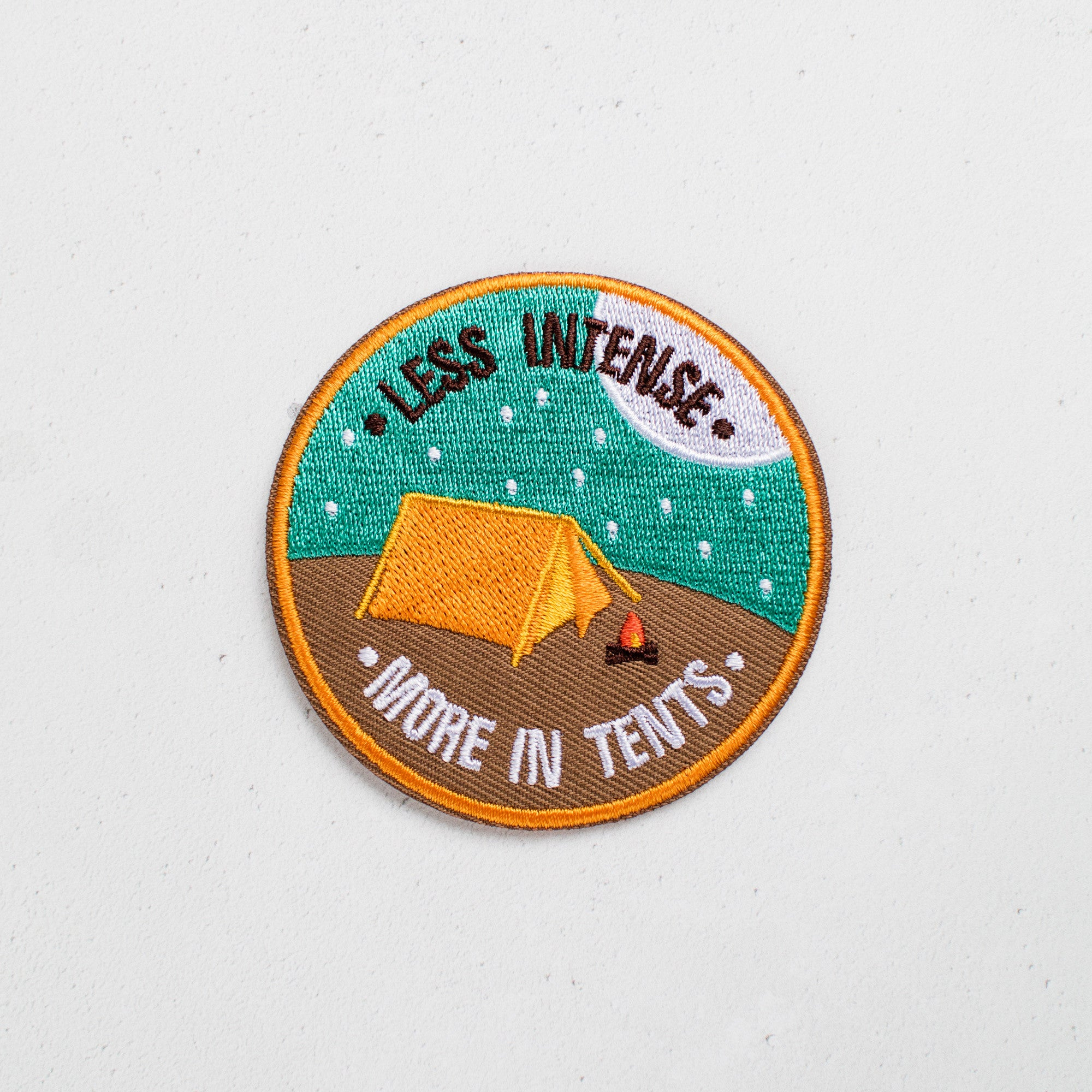 ... Less Intense More In Tents Patch ... & Less Intense More In Tents Patch | Finest Imaginary
