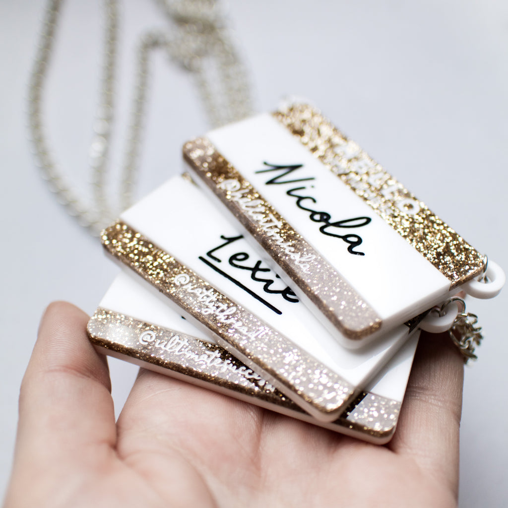 "'Hello My Name Is..."" Name Necklace/Brooch - Finest Imaginary"