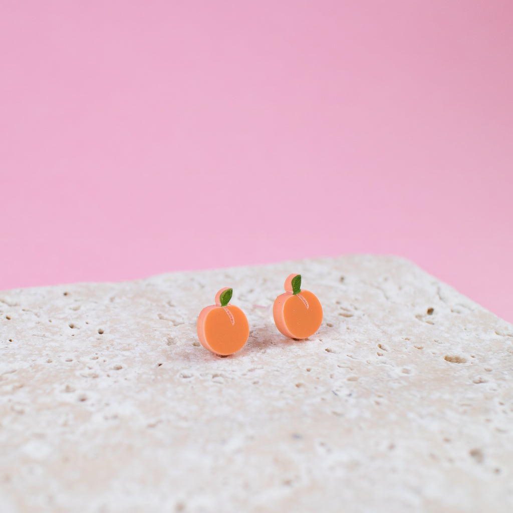 Peach Earrings - Finest Imaginary