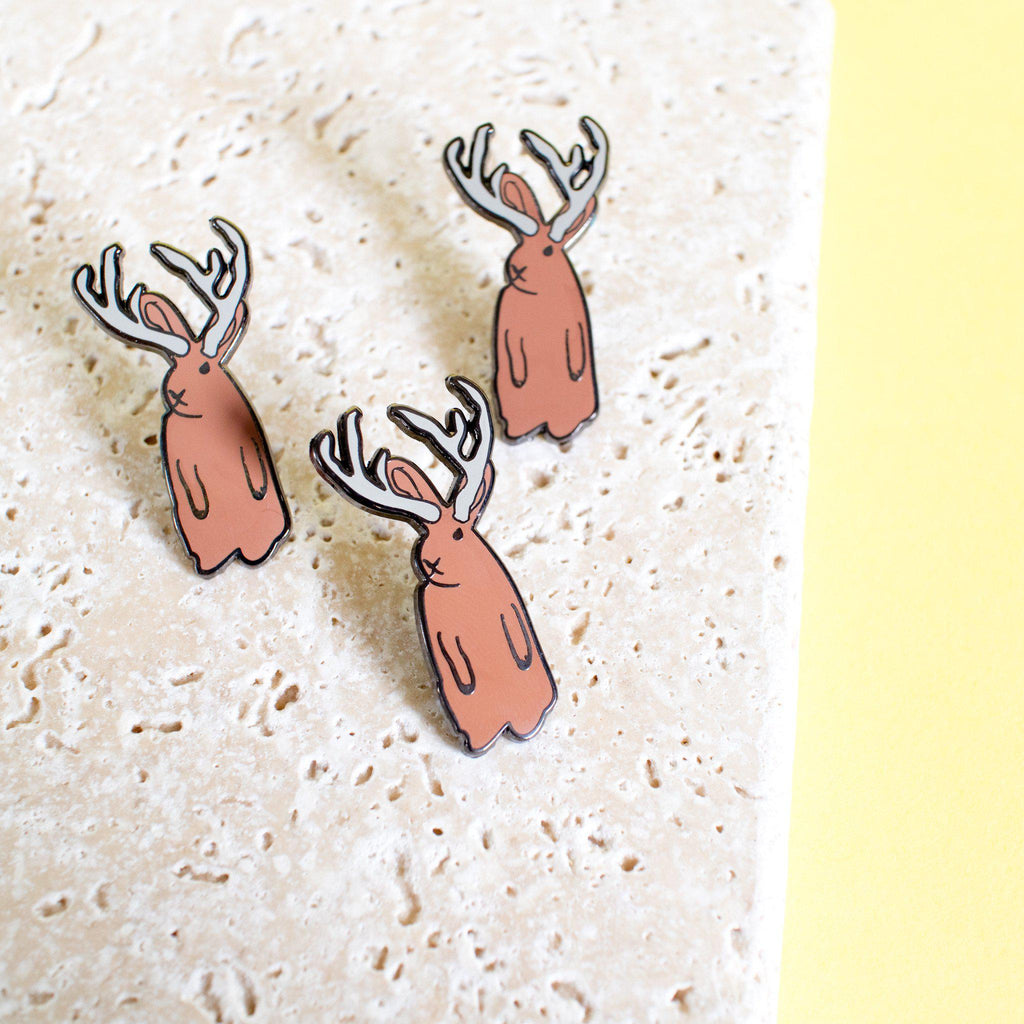 Jackalope Enamel Pin - Finest Imaginary