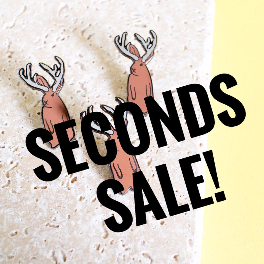 Jackalope Enamel Pin SECONDS SALE - Finest Imaginary