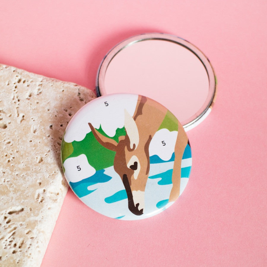 Paint By Numbers Deer Pocket Mirror - Finest Imaginary