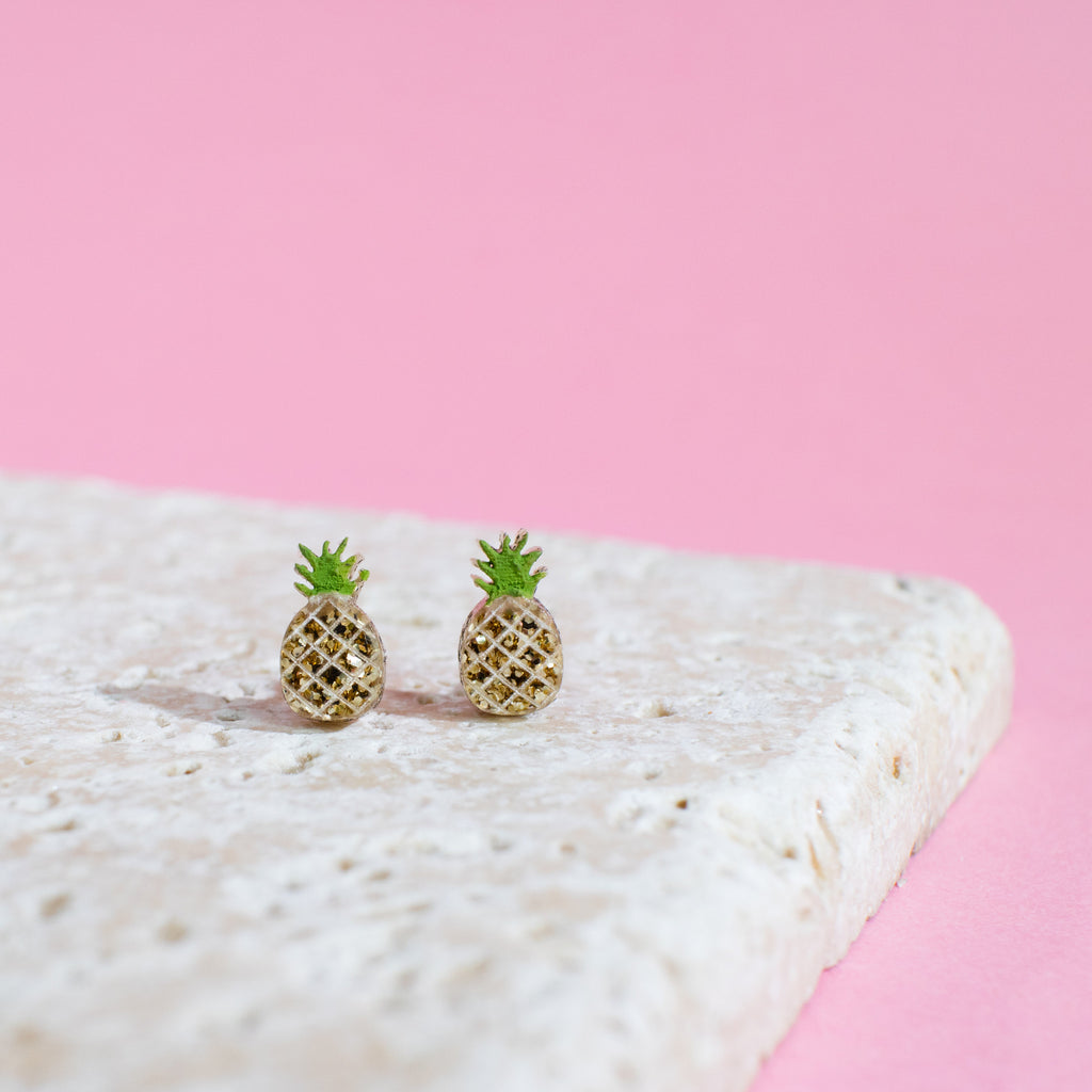 Pineapple Earrings - Finest Imaginary