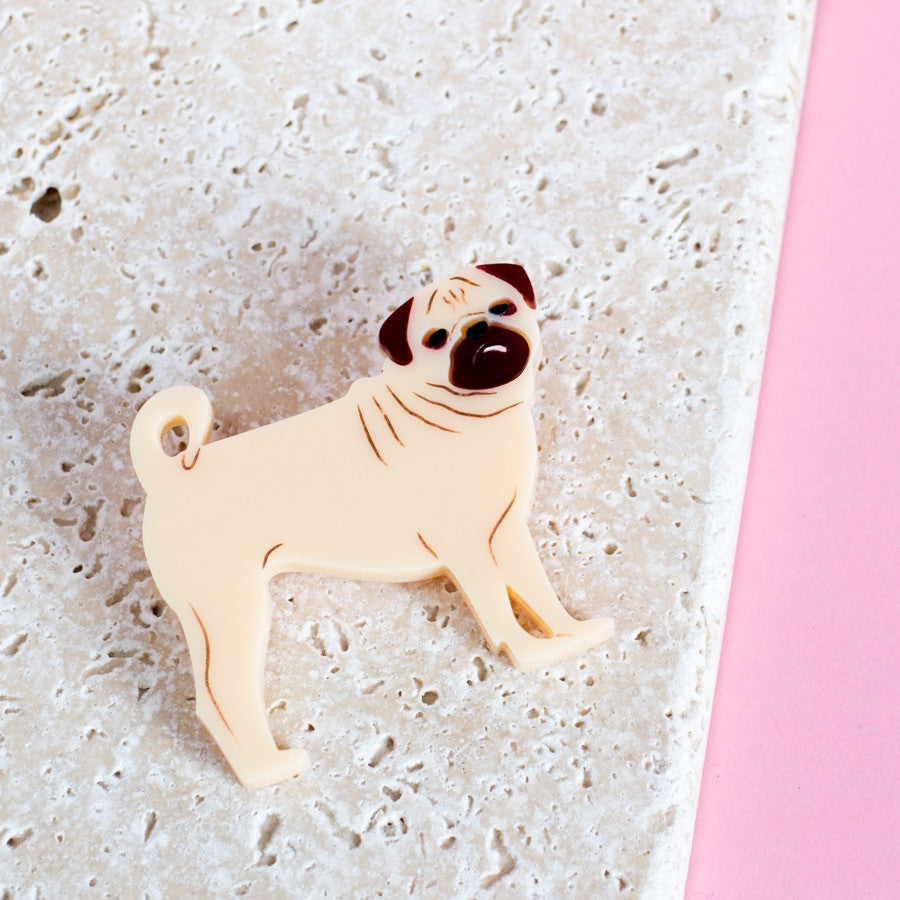 Pug Brooch - Finest Imaginary