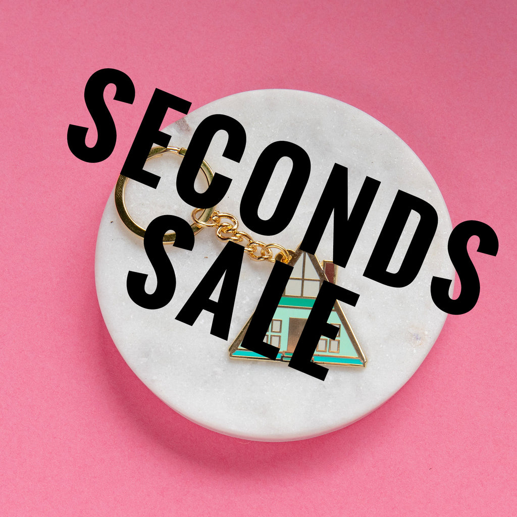 A-frame Cabin Keyring SECONDS SALE - Finest Imaginary