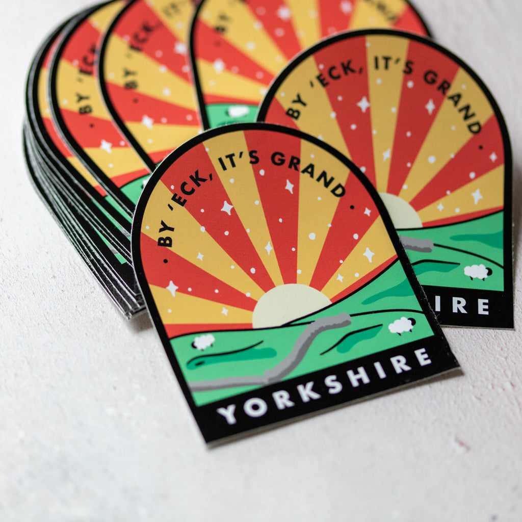 By 'Eck It's Grand, Yorkshire Large Vinyl Sticker - Finest Imaginary