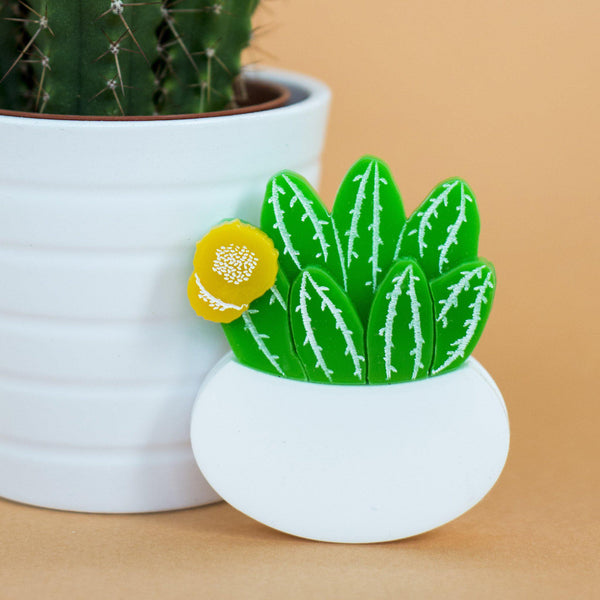 Flowering Cactus Brooch