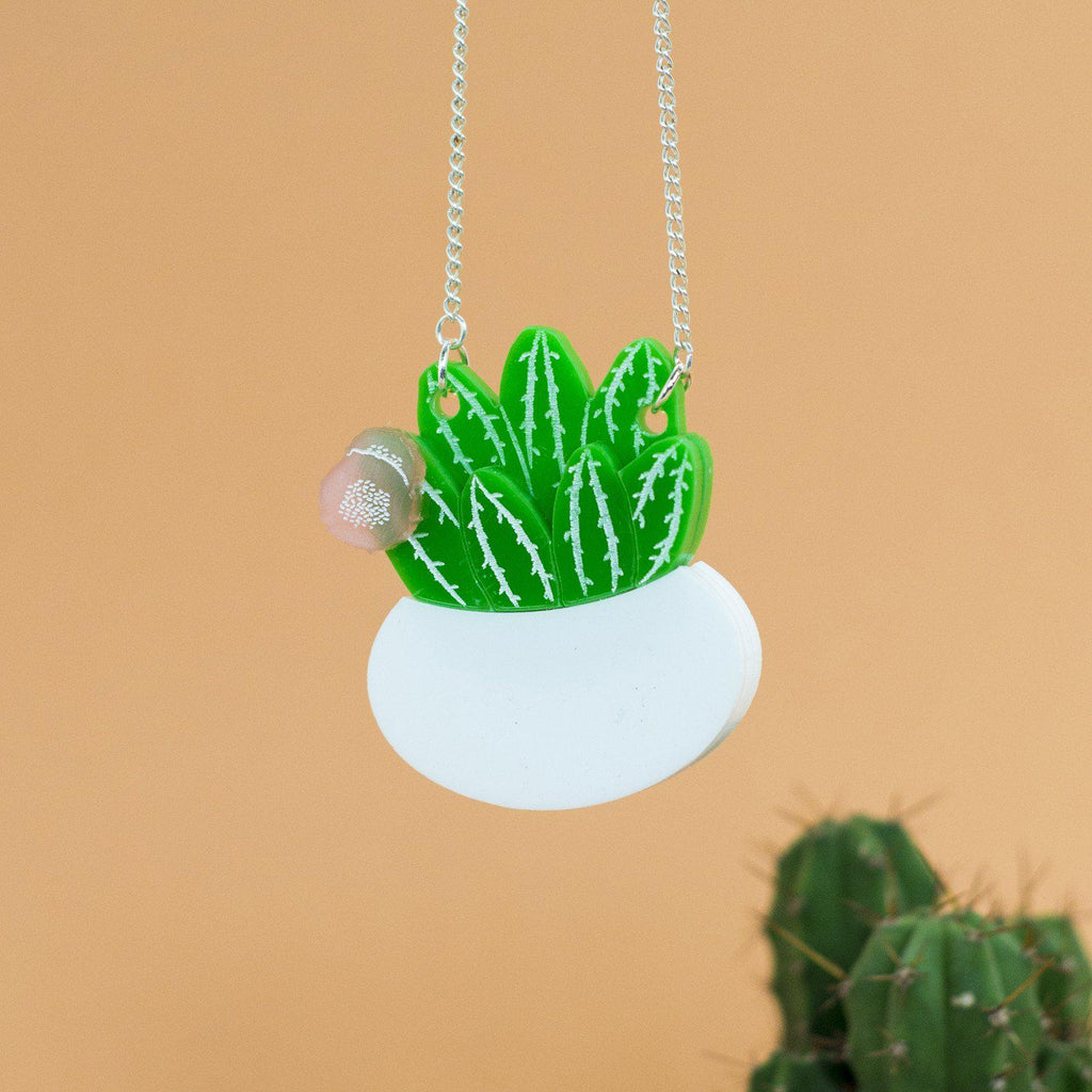 Flowering Cactus Necklace - Finest Imaginary