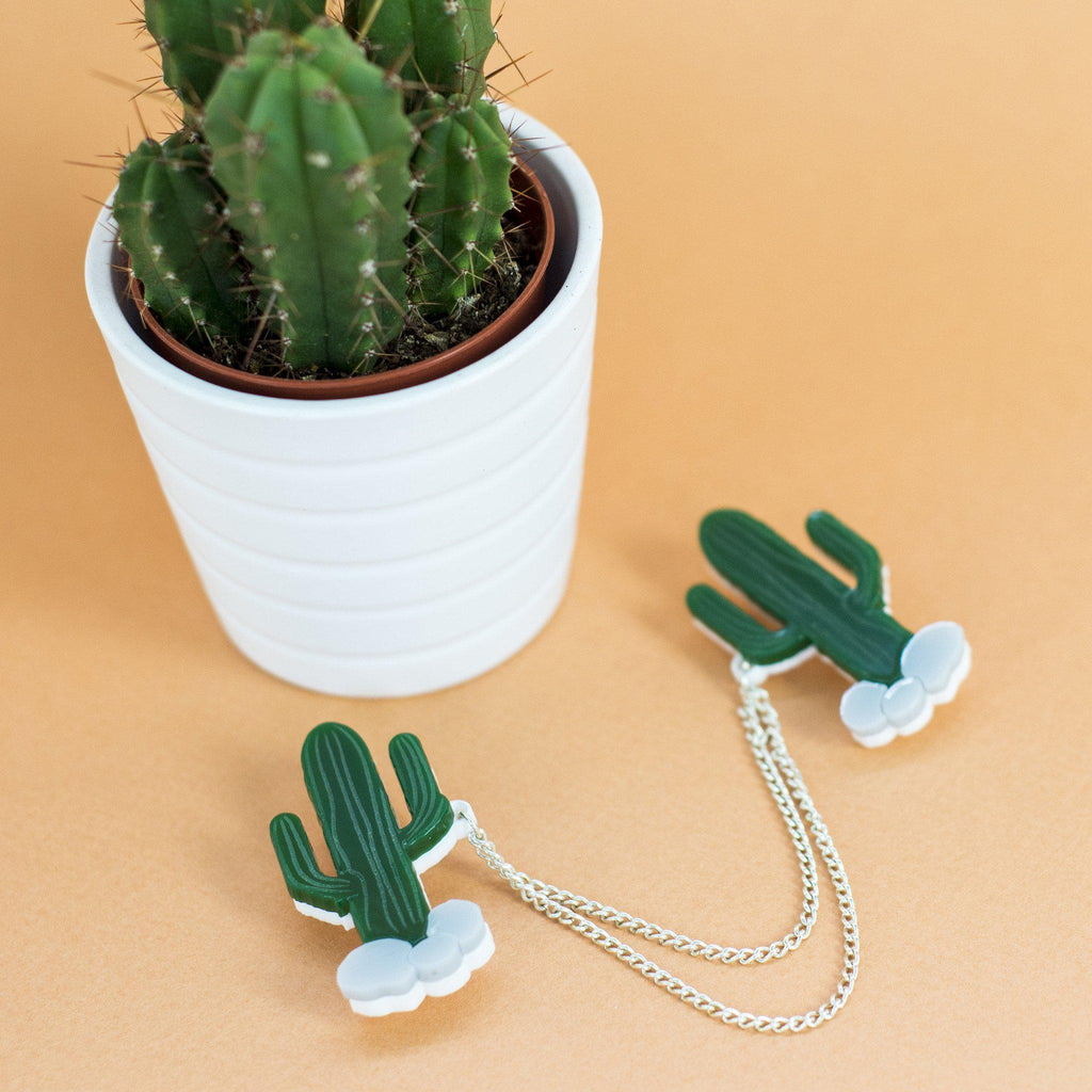 Cactus Collar Clips - Finest Imaginary