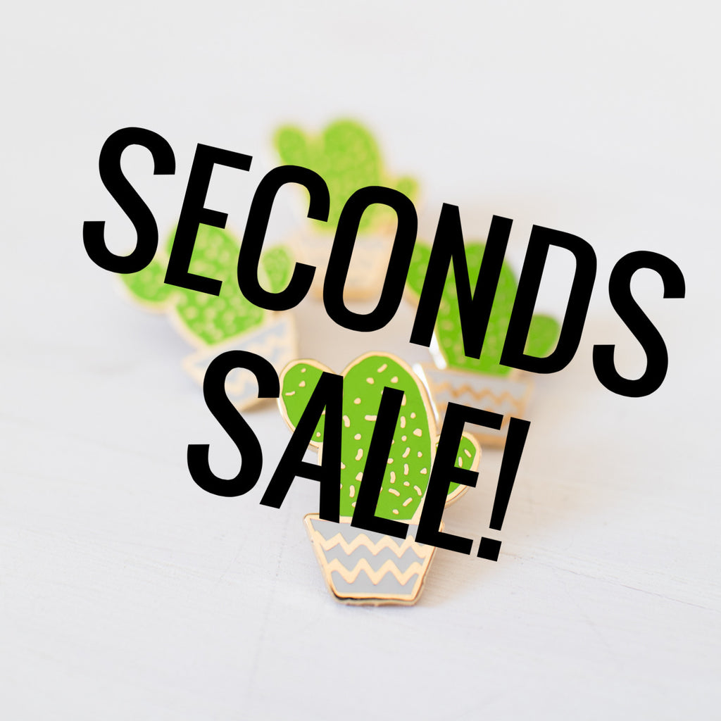 Cactus Pot Enamel Pin SECONDS SALE - Finest Imaginary