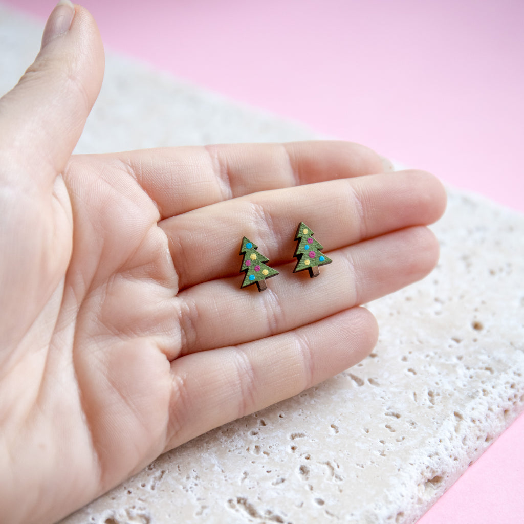 Little Christmas Tree Earrings - Finest Imaginary