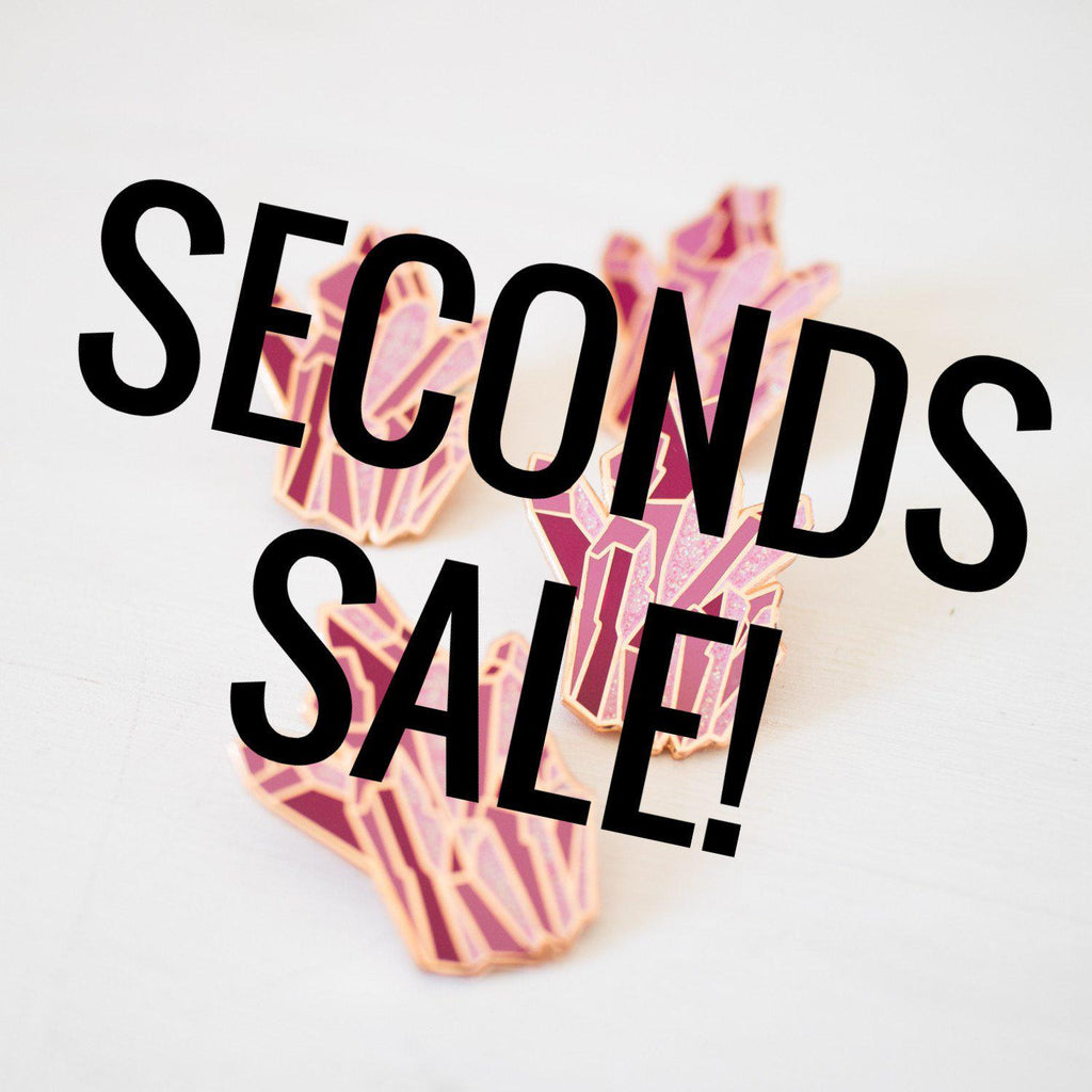 Pink Crystal Enamel Pin SECONDS SALE - Finest Imaginary