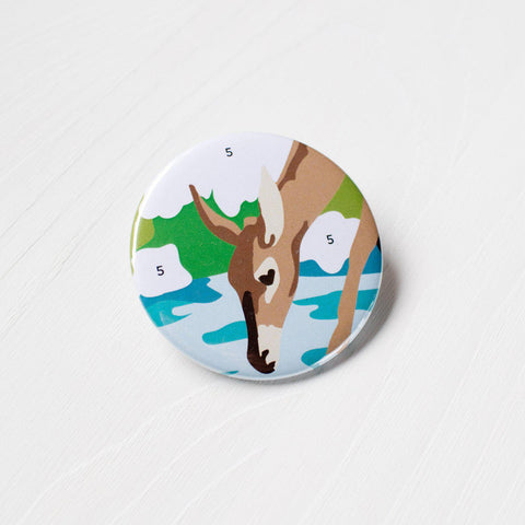 Paint By Numbers Deer Pocket Mirror