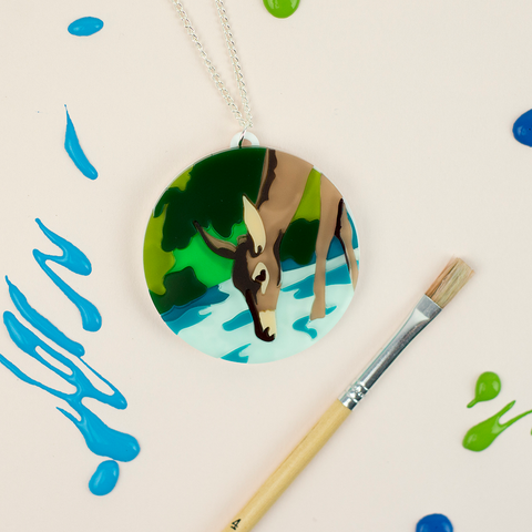 Paint by Numbers Deer Brooch