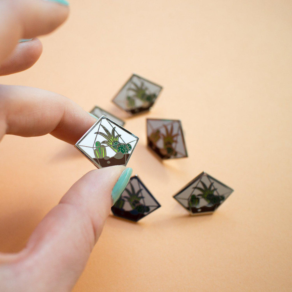 Diamond Terrarium Enamel Pin - Finest Imaginary