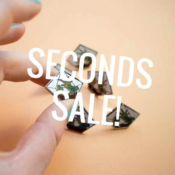 Diamond Terrarium Enamel Pin SECONDS SALE