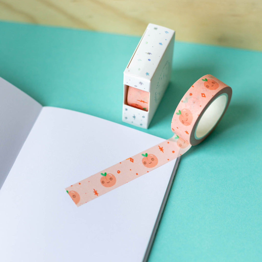 Fizzy Peach Washi Tape - Finest Imaginary