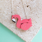 Flamingo Pool Float Necklace