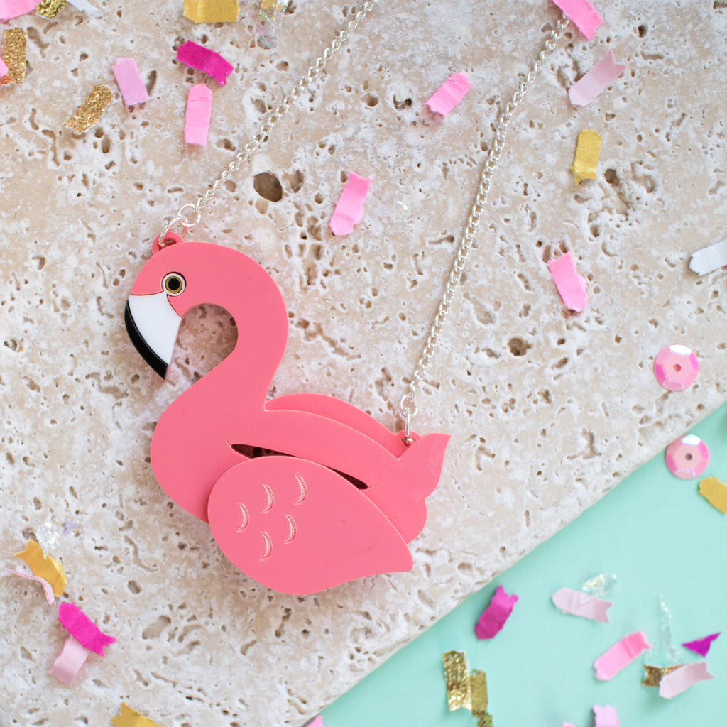 Flamingo Pool Float Necklace - Finest Imaginary