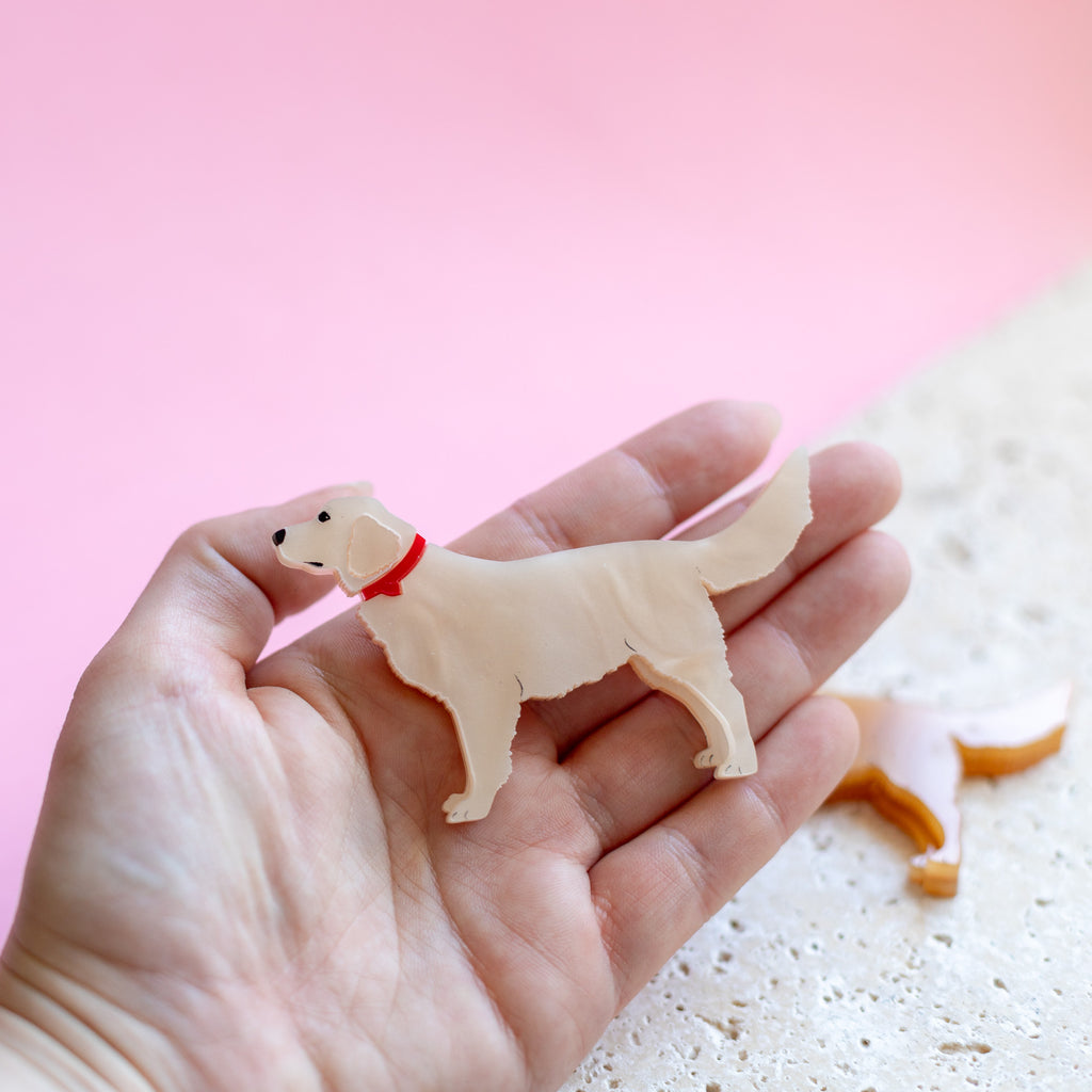 Golden Retriever Brooch - Finest Imaginary
