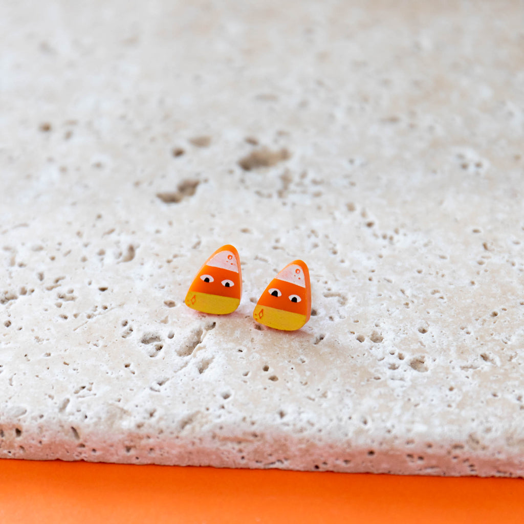 Halloween Candy Corn Earrings - Finest Imaginary