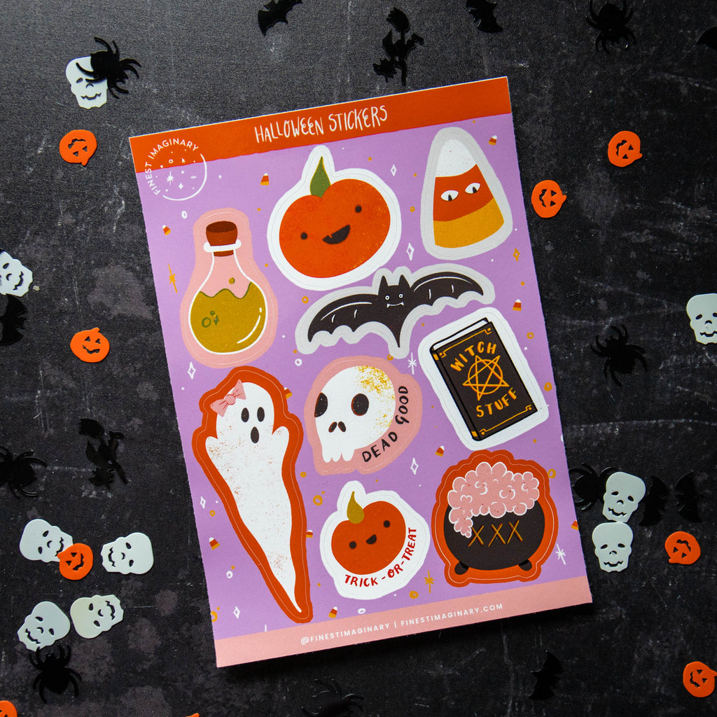 Halloween Sticker Sheet - Finest Imaginary