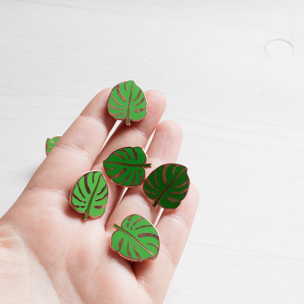 Monstera Leaf Pin - Finest Imaginary