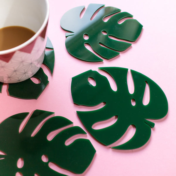 Cheese Plant Leaf Coasters