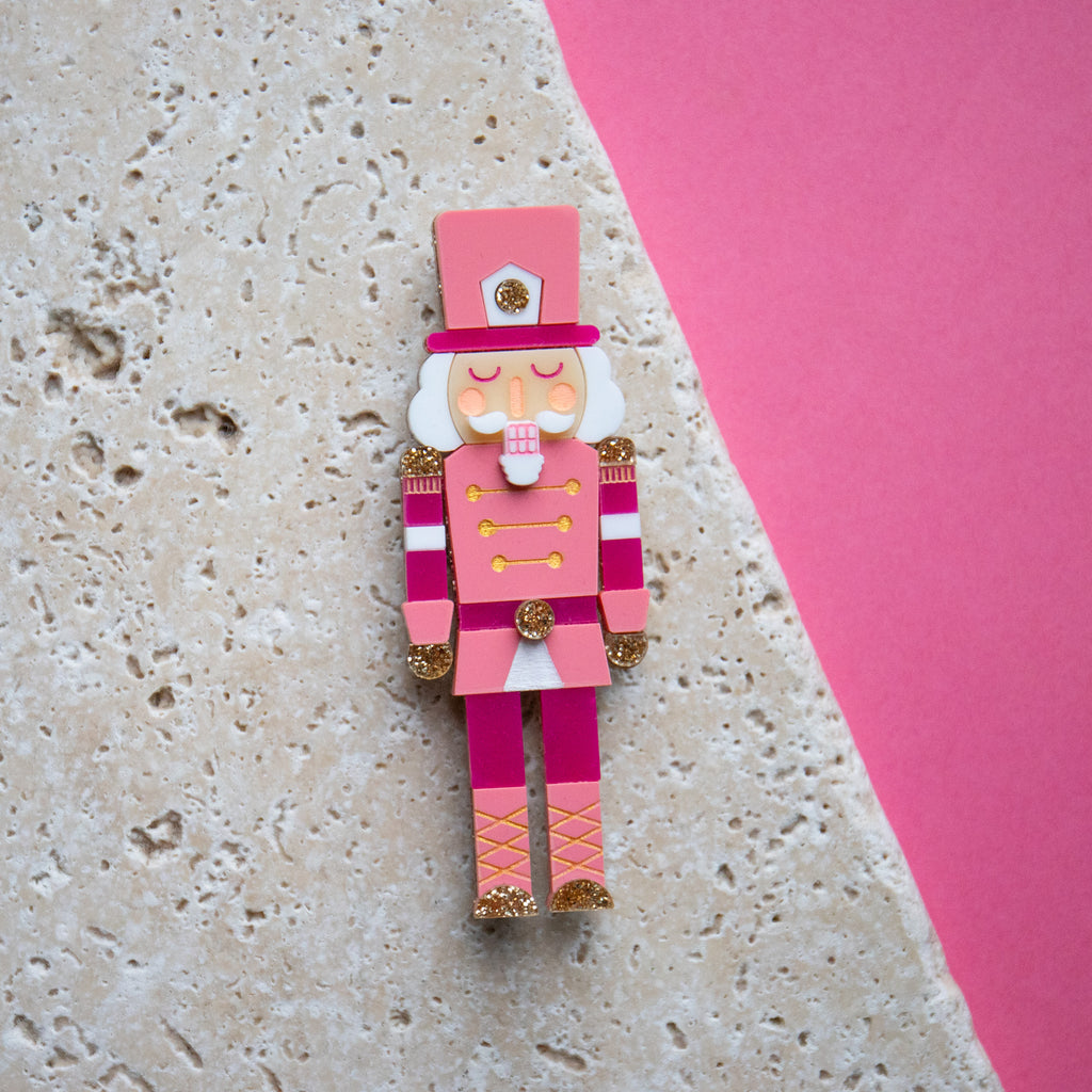 Nutcracker Brooch Pink - Finest Imaginary