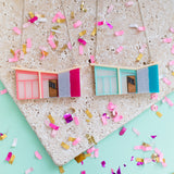 Palm Springs Pink Mid Century House Necklace