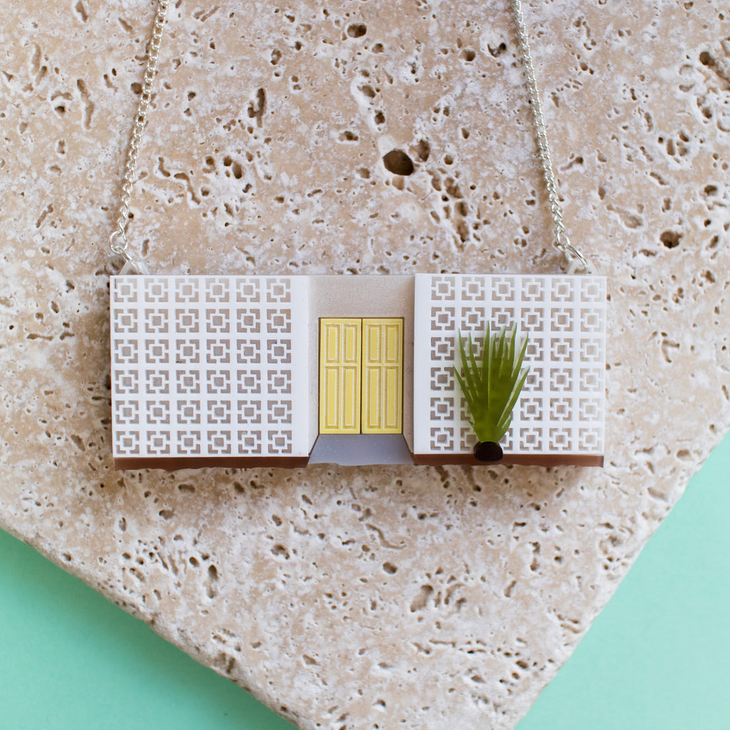 Palm Springs Mid-Century Block Wall Necklace - Finest Imaginary