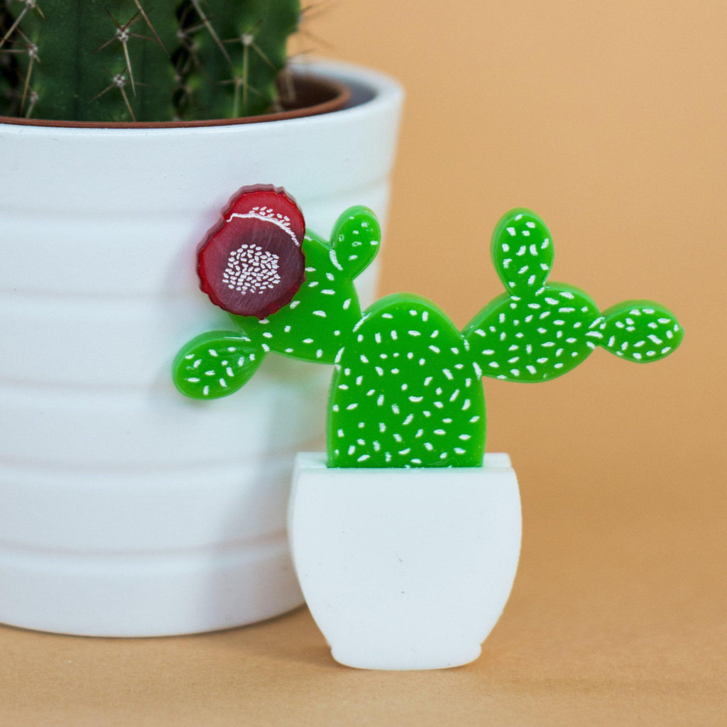 Prickly Pear Cactus Brooch - Finest Imaginary