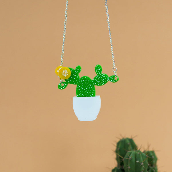 Prickly Pear Cactus Necklace