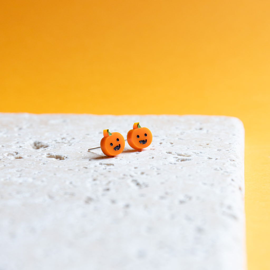 Pumpkin Earrings - Finest Imaginary