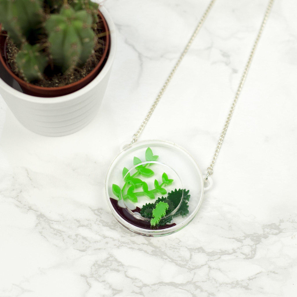 Round Terrarium Necklace - Finest Imaginary