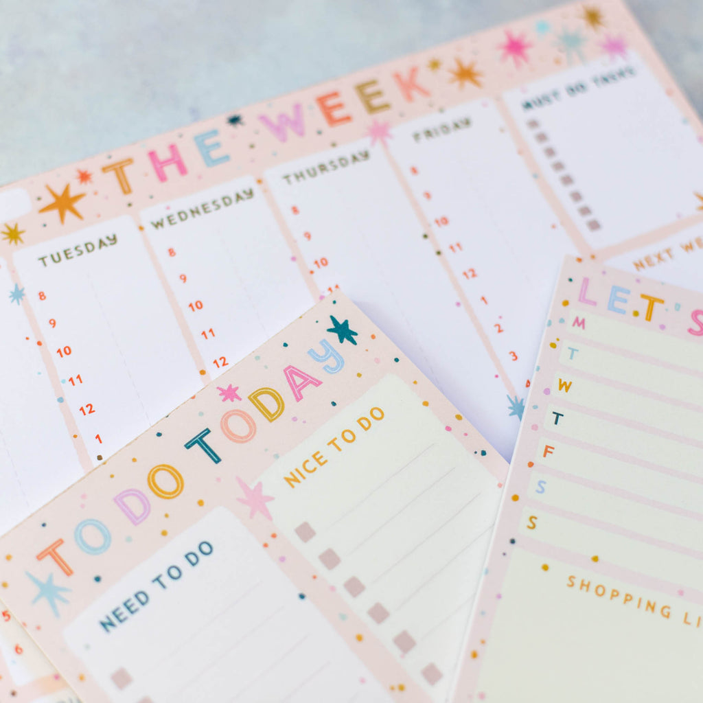 Colourful Stars Planner Pad Set - Finest Imaginary