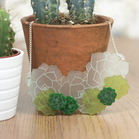 Echeveria Succulent Necklace