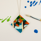 Paint by Numbers Tree Scene Necklace