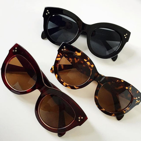 'Audrey' classic brown sunglasses