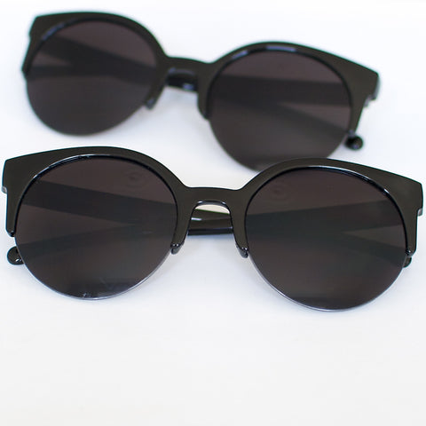 'Feelin' myself' black round shape sunglasses