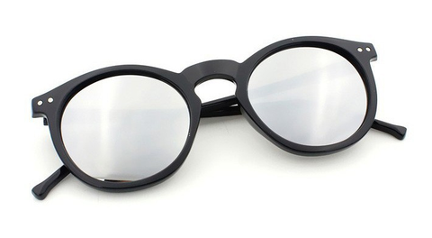 'Shades of Cool' black sunglasses with mirrored glasses