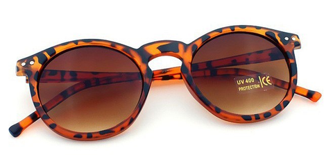 'Shades of Cool' leopard sunglasses with brown glasses