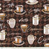 Coffee Cup Fabric Pattern