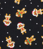 Gingerbread Men and Women Fabric Pattern